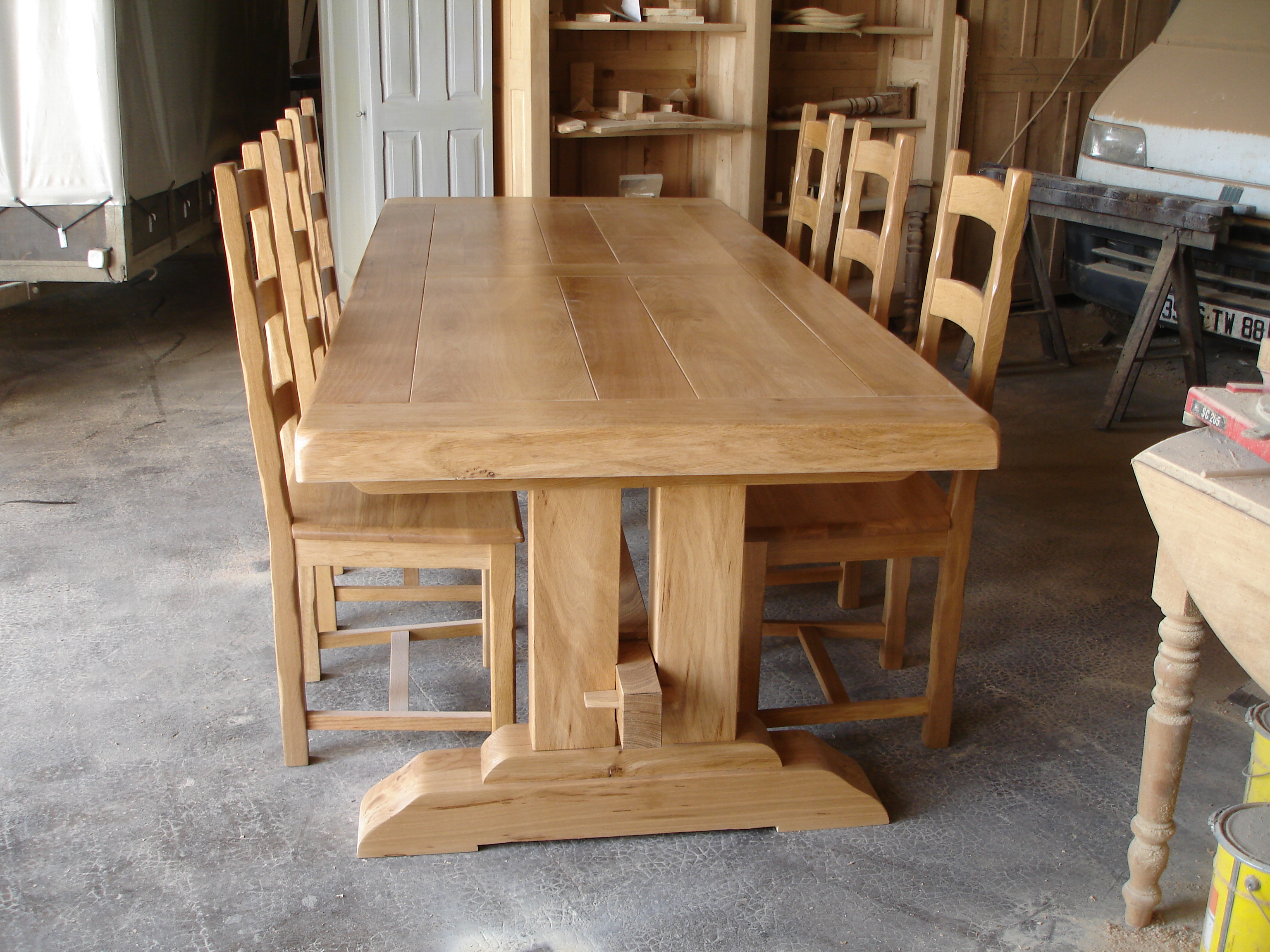 Table Poutre Table Ferme Sur Meubles Voiriot Franck Fabrication  # Fabrication Meuble